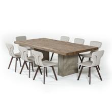 Modrest Renzo Modern Oak & Concrete Dining Table