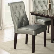 Maura Dining Chair, Silver V2