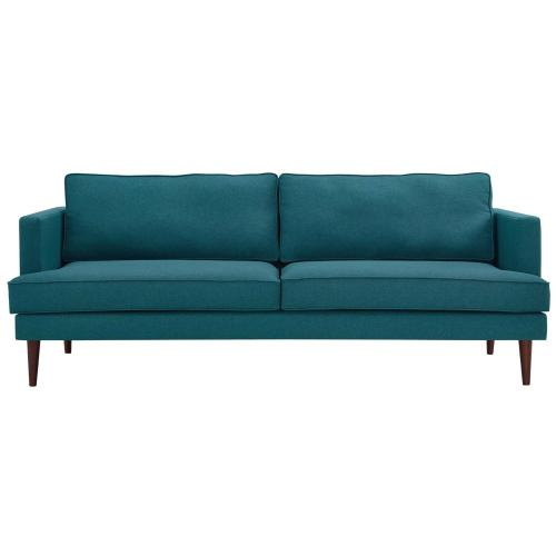 Agile Upholstered Fabric Sofa in Teal