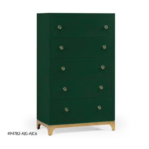 Tall chest with blazer buttons (Forest/Gold)