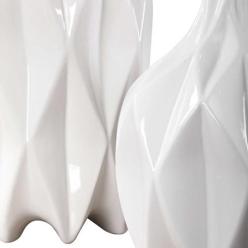Uttermost - Klara White Bottles, S/2