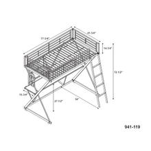 Pewter Student Loft Bed