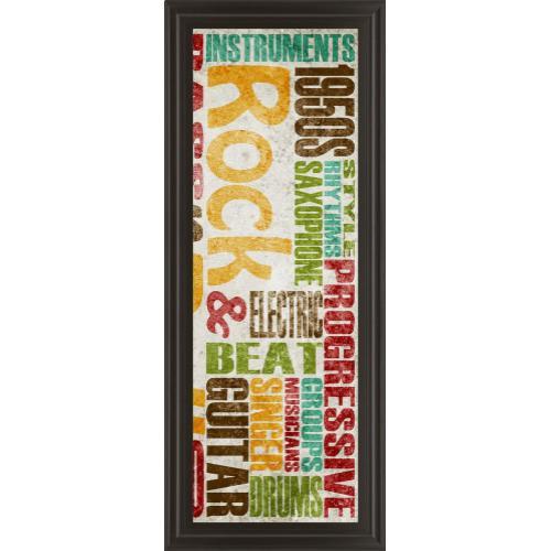 "Classy Art - ""Rock & Roll"" By Sd Graphics Studio Framed Print Wall Art"