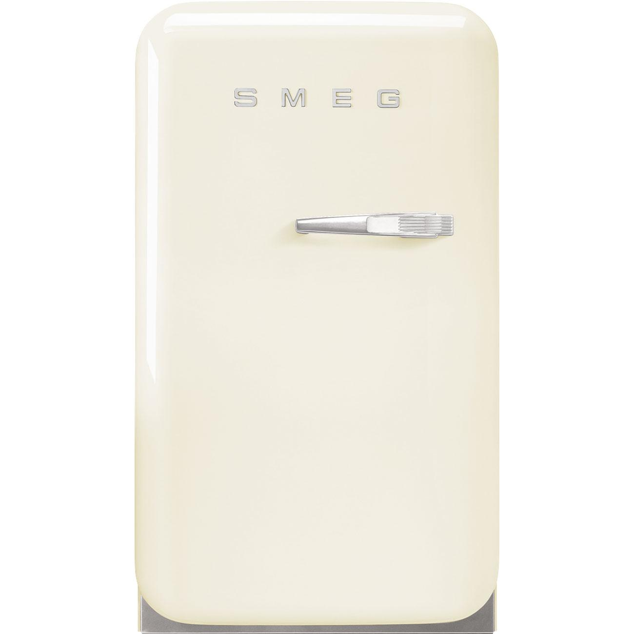 SmegRetro-Style Mini Refrigerator, Left-Hand Hinge, Cream