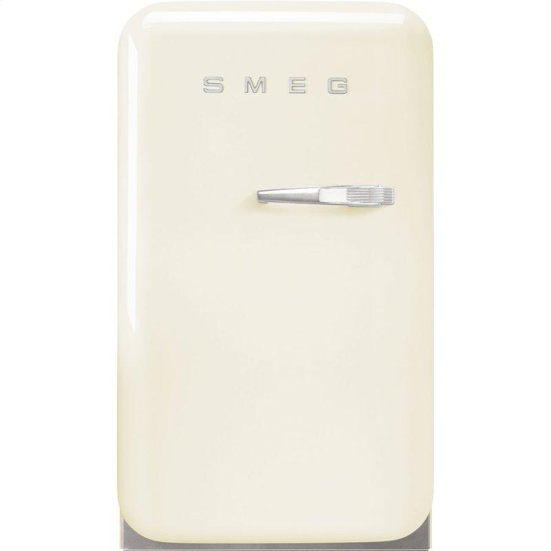 Retro-Style Mini Refrigerator, Left-hand hinge, Cream