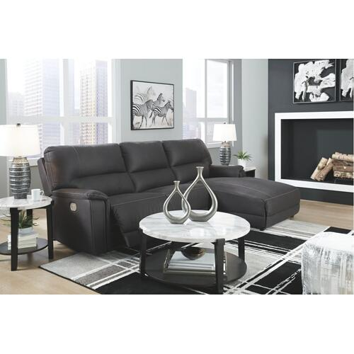Henefer 3-piece Power Reclining Sectional With Chaise