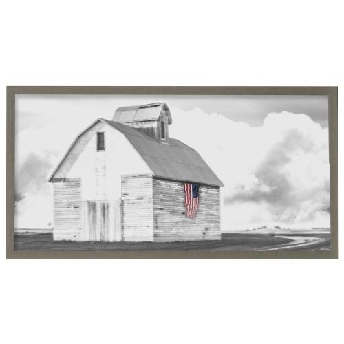 Style Craft - USA Barn  Framed Print Under Glass  42in X 22in