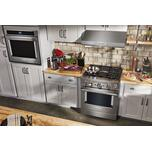 Kitchenaid KitchenAid® 30'' Smart Commercial-Style Dual Fuel Range with 4 Burners - Stainless Steel