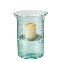 Medium Recycled Bubble Glass Pillar Holder