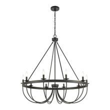See Details - Williamson 10-Light Chandelier in Black