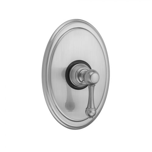 Tristan Brass - Oval Plate With Majesty Lever Trim For Pressure Balance Cycling Valve (J-CSV)