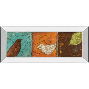 """Classy Art - """"Lovely Birds I"""" By Patricia Pinto Mirror Framed Print Wall Art"""