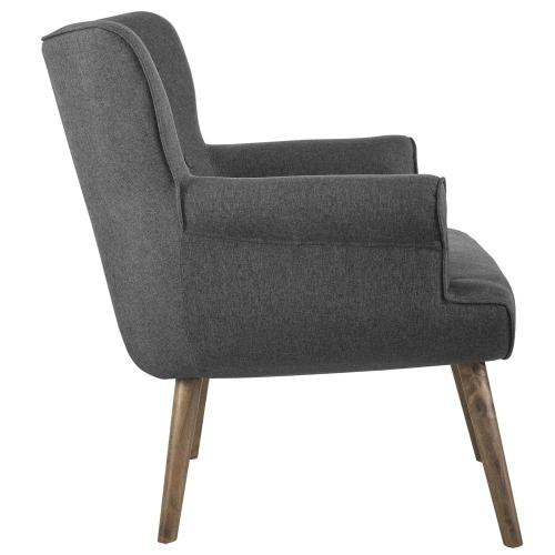 Cloud Upholstered Armchair in Gray