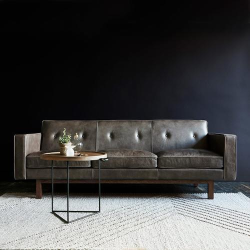 Product Image - Embassy Sofa Saddle Black Leather