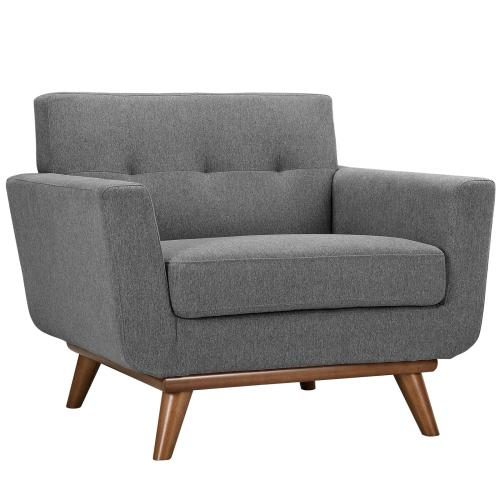 Engage Sofa Loveseat and Armchair Set of 3 in Expectation Gray