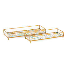 Marigold Glass Decorative Tray - Set of 2