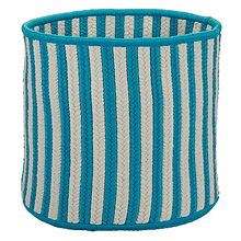 "Baja Stripe Basket BJ23 Teal 12"" X 10"""