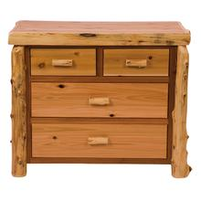 Four Drawer Low Boy - Natural Cedar - Premium