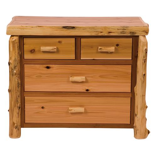 Four Drawer Low Boy - Vintage Cedar - Premium