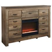 Trinell Dresser With Electric Fireplace Product Image