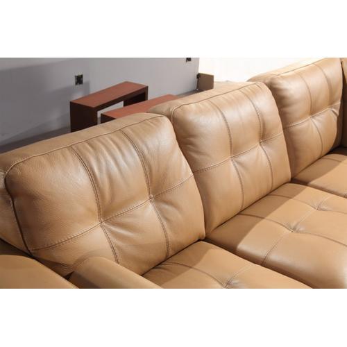 Divani Casa 306ANG Camel Leather Sectional Sofa