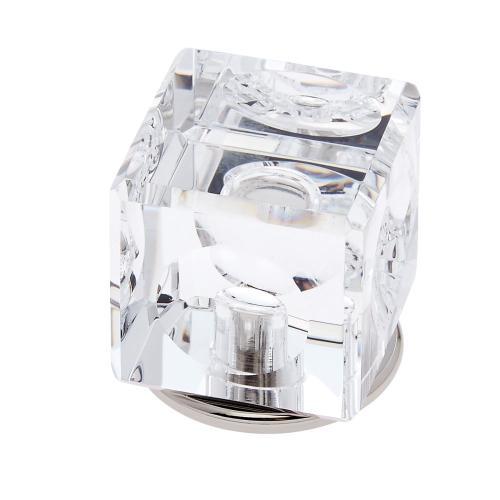 Polished Nickel 30 mm Square Crystal Knob