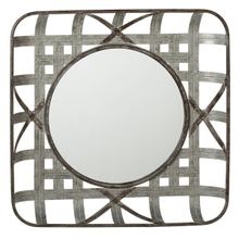 Square Woven Galvanized Wall Mirror