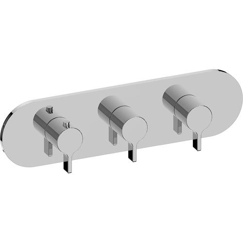 M-Series Valve horizontal Trim with Three Handles - Trim only