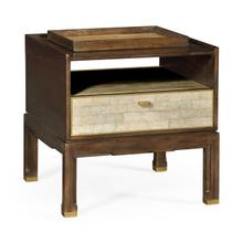 See Details - Small Lymed Mink Bedside Table with Tray