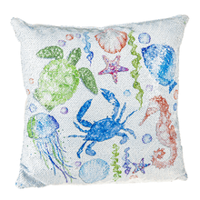 Sequin Coastal Pillow