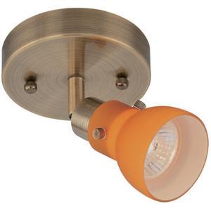 1-head Spot Light (wall/ceiling),ab/amber Gls,gu10 50w