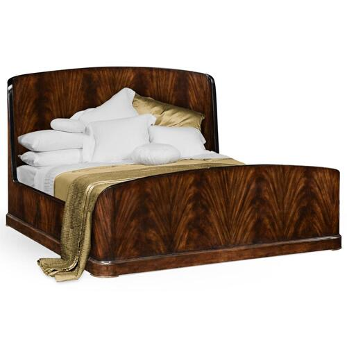 Mahogany biedermeier bed (Cali King)