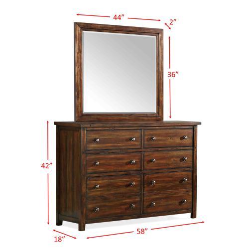 Dawson Creek Dresser & Mirror Set