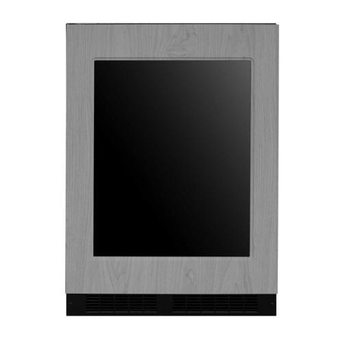 24-In Built-In Beverage Center With Split Convertible Shelves with Door Style - Panel Ready Frame Glass, Door Swing - Left