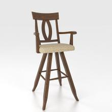 """See Details - Swivel Barstool 30"""" with arms"""