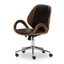 See Details - Baxton Studio Watson Walnut and Black Modern Office Chair