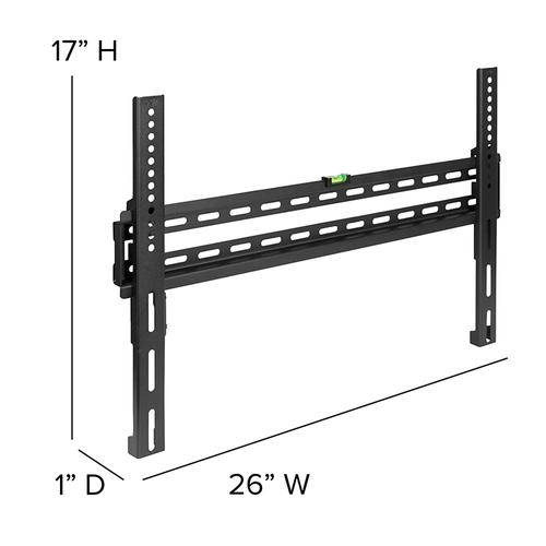 """FLASH MOUNT Fixed TV Wall Mount with Built-In Level - Magnetic Quick Release Pendants - Fits most TV's 32"""" - 84"""" (Weight Capacity 120LB)"""