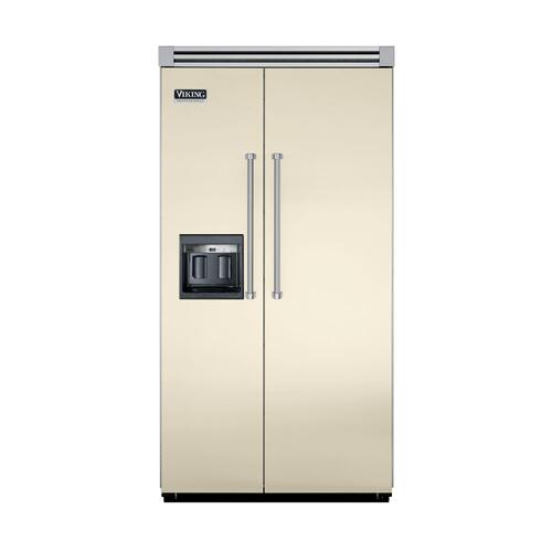 "Viking - Biscuit 42"" Side-by-Side Refrigerator/Freezer with Dispenser - VISB (Integrated Installation)"