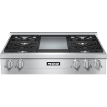 KMR 1136-1 LP - RangeTop with 4 burners and griddle for versatility and performance