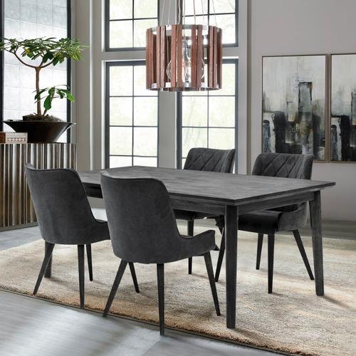 Alana Charcoal Upholstered Dining Chair - Set of 2