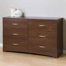 6-Drawer Double Dresser - Sumptuous Cherry