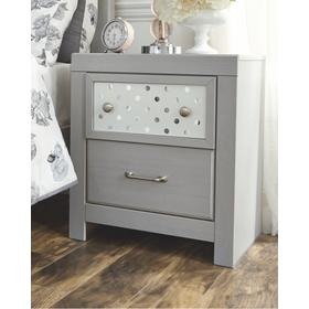 Arcella Two Drawer Night Stand Gray
