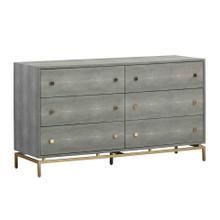 See Details - Pesce Shagreen 6 Drawer Dresser