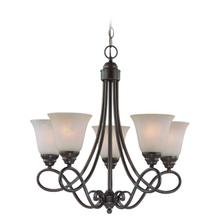 25025-OLB - 5 Light Chandelier
