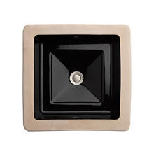 View Product - Pop Square Under Counter Bathroom Sink - Black
