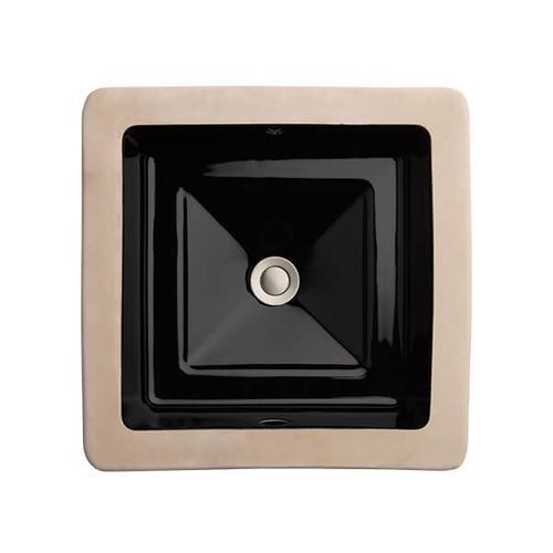 Dxv - Pop Square Under Counter Bathroom Sink - Black
