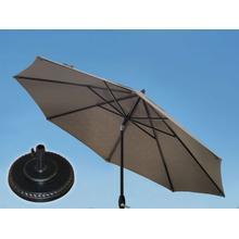 7.5' Umbrella, 7.5' Umbrella Extension Pole, Grand Terrace Umbrella Base