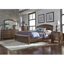 King Panel Storage Bed, Dresser & Mirror, NS