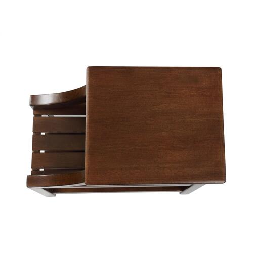 2 Open Shelves Side Table, Brown