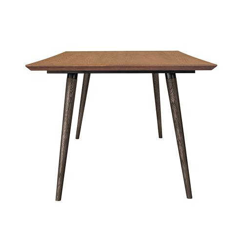 Coco Rustic Oak Wood Dining Table in Balsamico